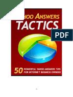Yahoo Answers Tactics