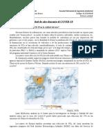 Calidad de aire durante el COVID 19