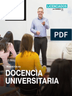 Brochure Docencia Universitaria 2020 II