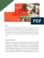 The Book of Colossian