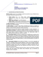 DIREITO ECONOMICO APONTAMENTOS 2020