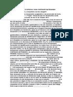 MODELO DE MANDATO ESPECIAL PARA CONTRAER MATRIMONIO