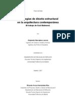Estrategias de diseño estructural en la arquitectura contemporánea El trabajo de Cecil Balmond. Tesis Doctoral Por Alejandro Bernabeu Larena