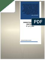 PROGRAMA Didáctica de la Historia 3 Y 4