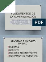 Fundamentos de La Administracion Unsaac