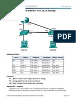 6.3.2.4 Lab - Configuring Per-Interface Inter-VLAN Routing En