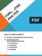 Analysis Forecasting