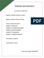 cuestionario derecho procesal penal