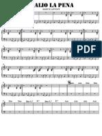 SCORE VALIO LA PENA - Piano