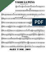 SCORE VALIO LA PENA - Trumpet in Bb 2