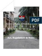 NUJS Act Regulations Rules