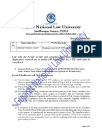RP_01_2019 Eligibility Criteria for Teaching Post