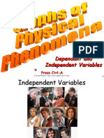 01 Independent and Dependant Variables