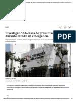 Coronavirus Perú _ Contraloría Investiga 166 Casos de Presunta Corrupción en Estado de Emergencia Por COVID-19 Nndc Perú _ Correo