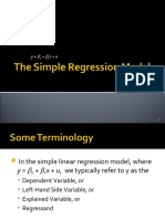 Simple Regression most basic