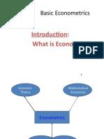 lecture 1 on econometrics