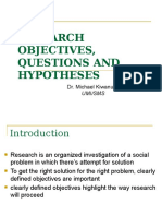 7-RESEARCH  OBJECTIVES, QUESTIONS AND HYPOTHESES MBA.ppt