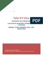 TALLER DE ETICA ( BORRADOR ).