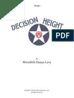 Decision Height Script- Meredith Danya Levy