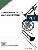 partitura - trombon duos - trombone duets - clases de trombon - trombon adm@yahoo ar