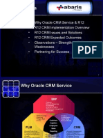 Why Oracle CRM Service & R12