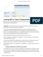 Linking MIC to Class Characteristic - SAPSPOT