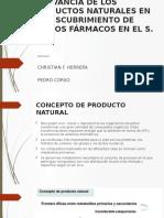 RELEVANCIA DE LOS PRODUCTOS NATURALES
