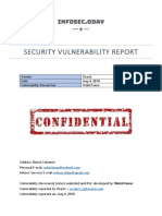 Security Vulnerability Report - Oracle