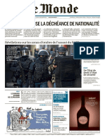 Le Monde Du Jeudi 24 Décembre 2015