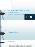 Secondary Products of Metabolism