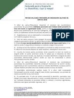 Recomandari privind aplicarea  prevederilor OM nr. 8