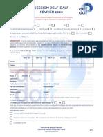 Formulario inscripción DELF DALF FEBRERO 2020