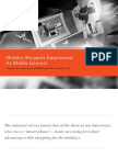 SapientNitro & GfK Roper Poll - Holiday Shoppers Empowered by Mobile Internet