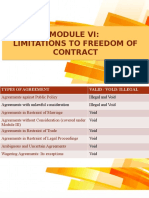 Module VI - Limitations as to freedom of contract.pptx