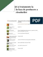 Lucrări și tratamente la TOMATE în faza de producere a răsadurilor
