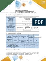 Guía de actividades y rúbrica de evaluación - Fase 2 - Trabajo colaborativo 1- Profundización