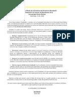Comunicado Oficial de la directiva del DE-FCEUSB