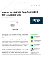 How to Downgrade from Android 9.0 Pie to Android Oreo