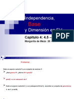 Independencia-base-dimension