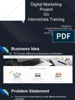 Digital Marketing Project On  Internshala Training