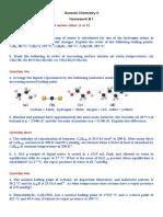 General Chem II (Homework # 1)