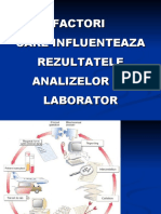 Factori care influenţează rezultatele analizelor de laborator