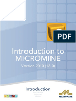MM12-0_Introduction_to_MICROMINE_(2010-04)