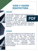 Misión y Visión Arquitectura
