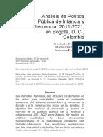 Análisis de política pública de infancia y adolescencia. (1)