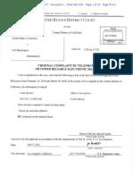 Federal Complaint in US v. Carl Bennington