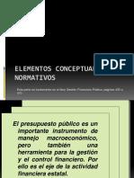 3. Bases Conceptuales y Normativos Del Presupuesto