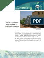 ficha60 Instalación solar fotovoltaica en una vivienda unifamiliar