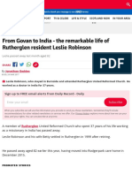 From Govan to India - the remarkable life of Rutherglen resident Leslie Robinson - Daily Record
