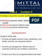 L5a Creating Customer Loyalties & Satisfaction